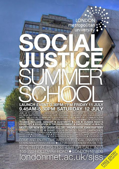 Social Justice Summer School flyer