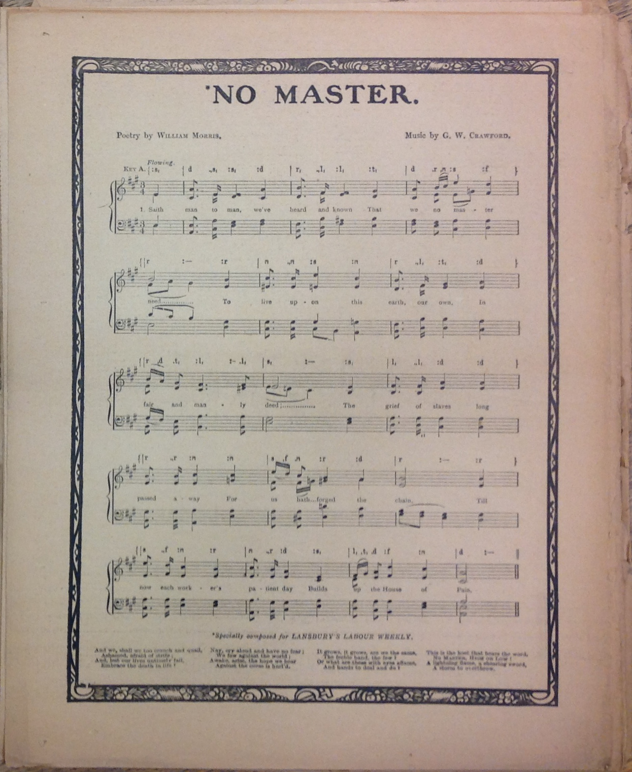 no master songsheet