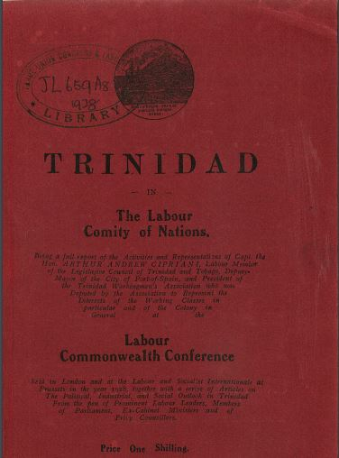 "Report by Ciprian, President of the Trinidad Workingmen's Association ""to represent the interests of the working classes""."
