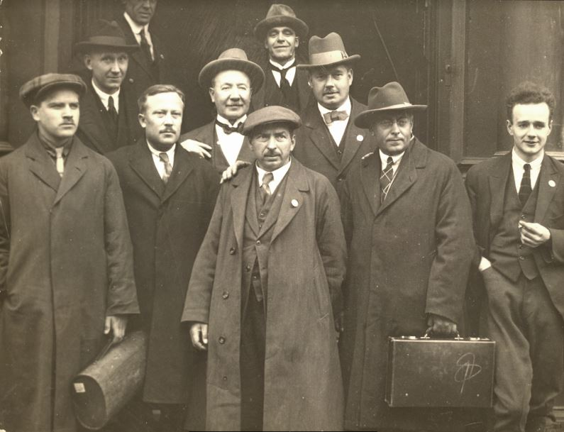 Soviet trade unionists attending the TUC conference in Hull