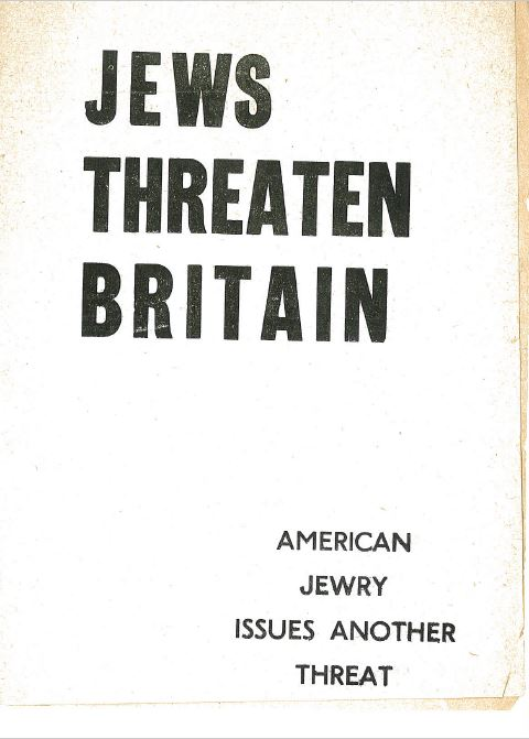 Jews threaten Britain