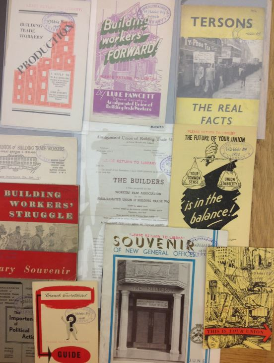 various documents from Amalgamated Union of Building Trade Workers