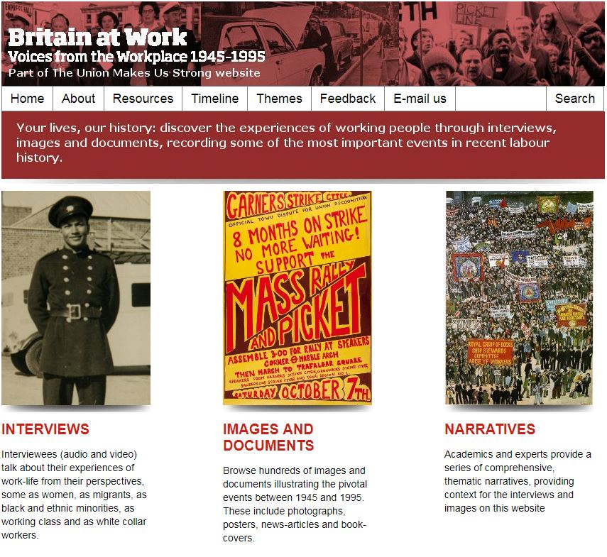 Britain at Work homepage