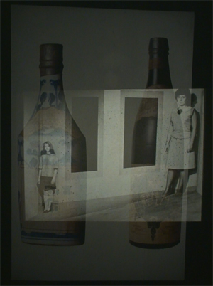 Illusion Women and Japanese bottles